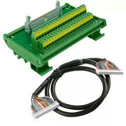 Terminal PCB 50 Pin IDC50 With DIN-50 Connector and 1 Mtr Cable