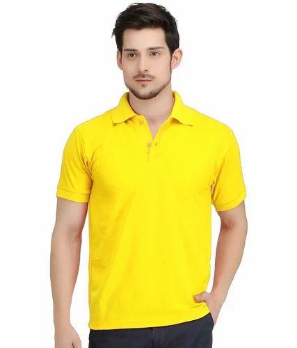 yellow collar t shirt