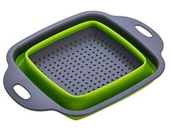 Abs Plastic Silicone Food-Grade Collapsible Colander Folding Strainer for Washing