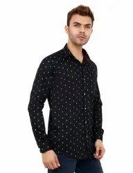 Black Color Cotton Casual Shirt