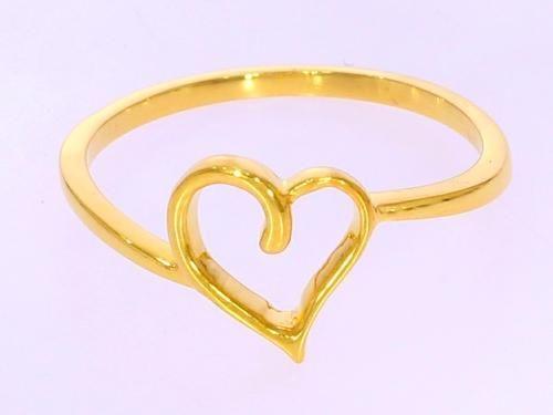 22 Carat Gold Heart Shape Ring Grlzb012