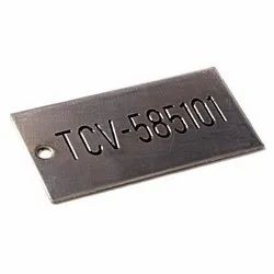 SS Etched Filled Name Plate