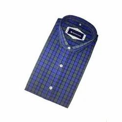 Cotton Checked Mens Casual Check Shirt, Size: M-XXL