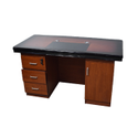 Rectangular Wooden Office Table, No. Of Drawers: 3