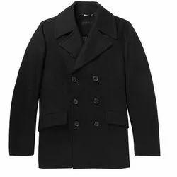 Plain Regular Fit Mens Coat, Size: S