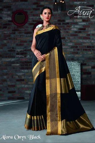 50a4c8e4b6 Cotton Silk Saree With Blouse Piece, Length: 6.3 M, Rs 935 /piece ...
