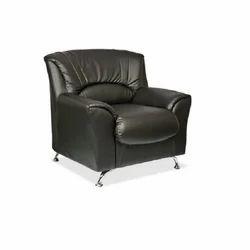 Designer Black Single Seater Sofa