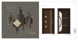 棕色门印花层压板,光泽,大小:8x4