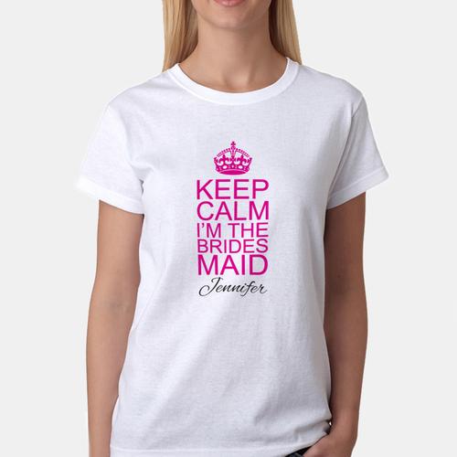 27315c3f98354 White Printed Promotional Girls T Shirt