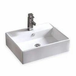 Ceramic Rectangular Table Top Wash Basin