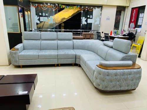 Nk Furnitures Modern Wooden Arm High, Corner Sofa With High Back