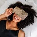 Eye Pillow Flaxseed & Lavender Filled, Anti Stress For Relaxing Yoga Spa Meditation