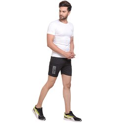 Run Black Mens Short