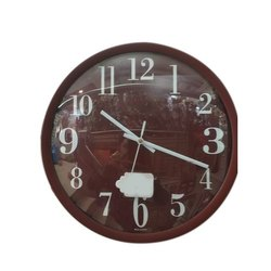 Analog Plastic(Body) Round Wall Clock, For Home