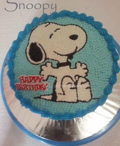 Snoopy Theme Cake Kids Special Cake Boris Bakers Silchar ID