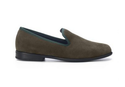 Duke And Dexter Green Suede Loafers