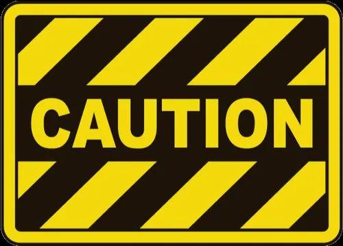 edge yellow caution sign - 500×359