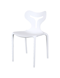White Cafeteria Chair