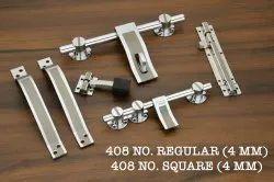 5 mm Stainless Steel Door Kit, Finish Type: Chrome