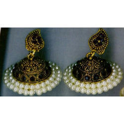 Traditional White Pearl Jhumki