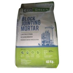 Eco Green Ceramic Block Jointing Mortar Tile Adhesive, Packaging Type: HDPE Bag