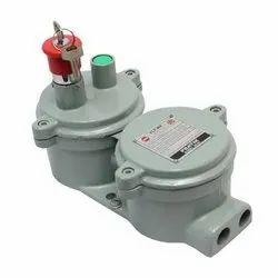 Single Phase Mild Steel Flameproof DOL Starter, Voltage: 220 V