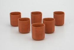 Earthen Clay Square Cup(6 piece) Set