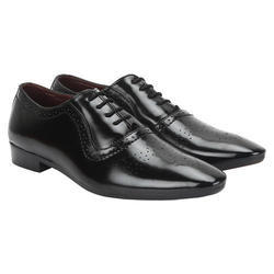 Mens Black Leather Stylish Casual Shoes, Size: 6-10
