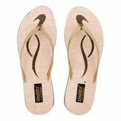 Women Golden PVC Fashion Slippers