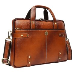 Hammonds Flycatcher Original Bombay Brown Leather 14 inch Laptop Messenger Bag