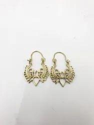 Brass Spiral Earring