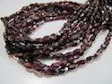 Garnet Oval Shape Faceted Beads