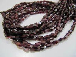 Garnet Oval Shape Faceted Beads