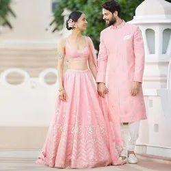 Baby Pink Bridal Lehenga Choli