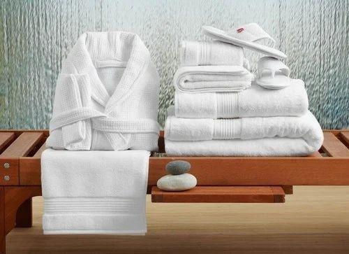 White Cotton Microfiber Hotel Bath Linen Size Standard Bathrooms