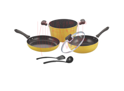 Cookware set - 6 Pcs . Dark Rock