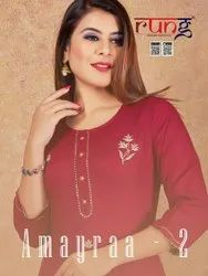 Amayraa -2 Rayon With Work Casual Wear For Straight Kurtis