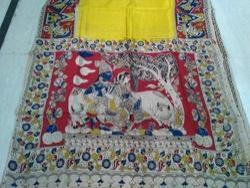 Kalamkari Prints Casual Wear Kalamkari Silk Saree