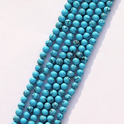 Plain Turquoise (Syn.)Beads