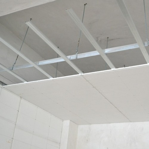 White Gypsum Board Partition 10 12 Mm Rs 75 Square Feet