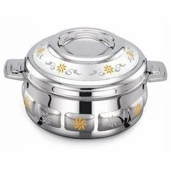 Silver Steel Hotpots, Capacity: 1500-3000 Ml