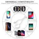 2 in1 Wireless Charger for Apple Watch Series 3 4 5 6 USB Magnetic Charging Cable 1mtr for iPhone