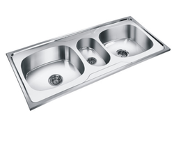 Stainless Steel Silver Double Bowl Mini Bowl Sinks