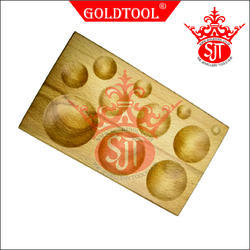 Gold Tool 11 Cavity Round Dapping Block, For Jewelry