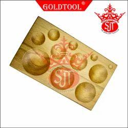 Gold Tool 11 Cavity Round Dapping Block