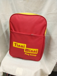 Nylon Red Light Weight Kids School Bag