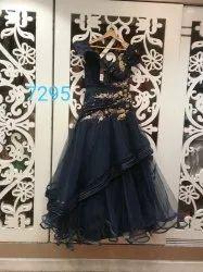 Black Net Girls party wear