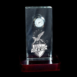 3D Crystal Personalized Corporate Gift (3D-Clock-A)