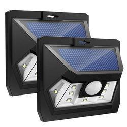10 LED Wide Angle Solar Wall Light With Motion