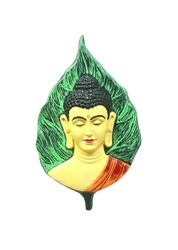 Gautam Buddha On Leaf Wall Hanging